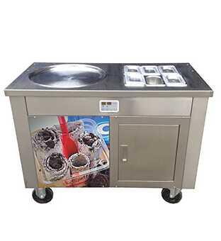Fried Ice Cream Roll Machine with Panasonic Compressor