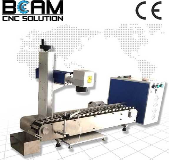 High speed flying fiber laser marking machine