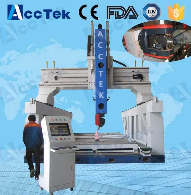 3D woodworking 5 axis cnc wood carving machine atc cnc router