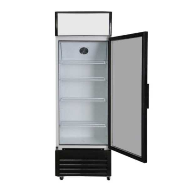 Door L Commercial Upright Glass Display Drinks