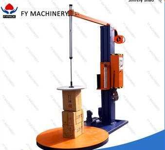 low price cardboard box pressure pallet stretch film wrapping machine