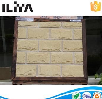 Handmade Stone Lightweight Panel Ceramic Clay Brick (36001)