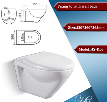 HS-6106 s-trap india style toilet,ivory toilet,wall hung toilet