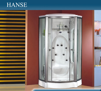 HS-SR2231T transparent glass bathroom acrylic steam shower bath