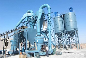 Calcined zinc oxide powder grinding mill