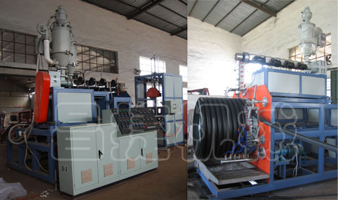 PE The Huge Calibre Single wall Winding Pipe Production Line