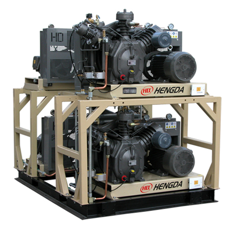 Medium and High pressure piston compressor