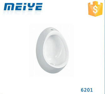 6201 Wall-mounted Ceramic White Quality Urinal, Egg Shaped Urinal