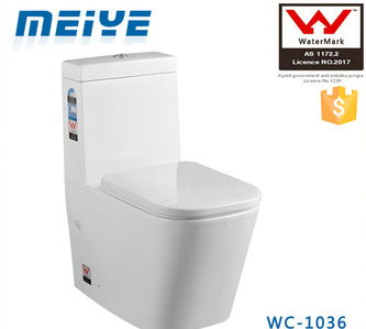 One-piece Washdown Watermark Toilet S/P Trap Back to Wall with GEBERIT or R&T Flush Valve Australian WELS WC-1036