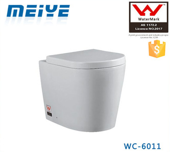 Back to Wall Toilet P/S trap Round WC Pan for Concealed Cistern or Floor-standing Flushing Cistern WATERMARK WC-6011