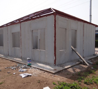 Decorated Waterproof Prefab House Steel Frame