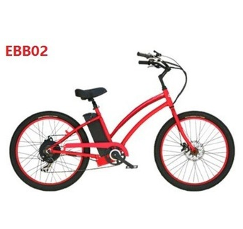 36v 250w electric beach bicycle beach cruiser electric bike for lady