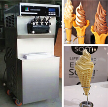 New style high quality hot sale floor model commercial soft ice cream machine with pre-cooling and counting function