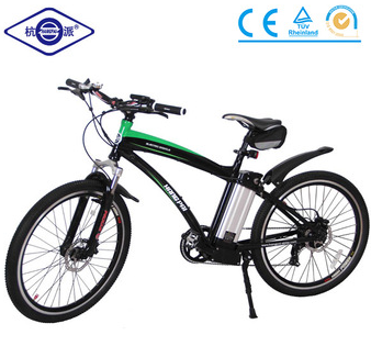 Zero emission Mountain electric bike with magnalium integrated motor lohas vehicle HP-004P