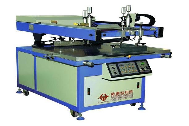 Крупная печатная машина сетчатого трафарета с косой стрелкой