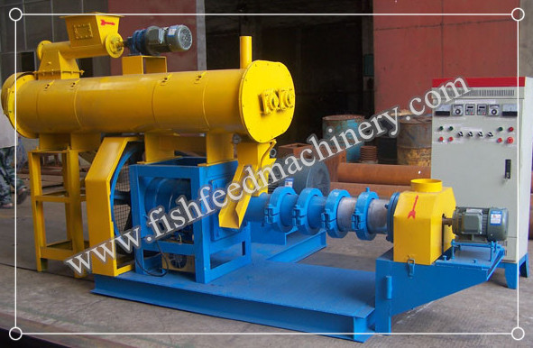 Wet Type Floating Fish Feed Extruder 180-200kg/h FY-DSP60