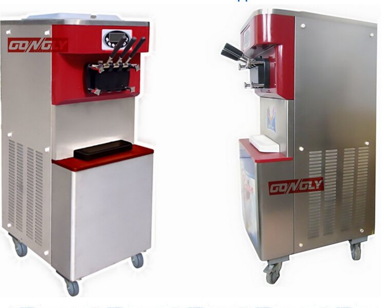 Golden supplier 3 flavors soft ice cream freezer maker machine with CB/CE/RoHS/UR approved