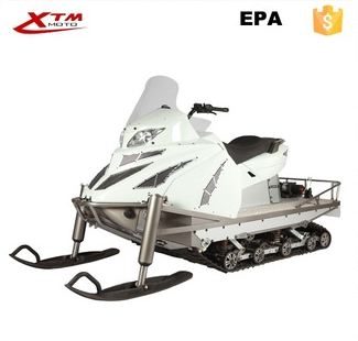 Snowmobile with Additional LED Headlight and Rear Working Lamps