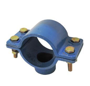 Ductile Iron pvc pipe fitting saddle clamp