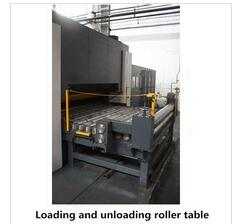 additional equipment loading and unloading roller table for mould making