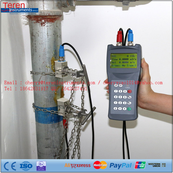Clamp On Liquid High Accuracy Oil Milk Sea Water Ultrasonic Flowmeter