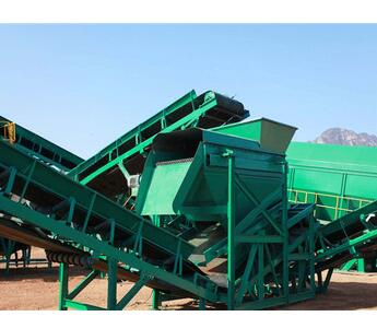 Automatic municipal refuse sorting conveyor for separating waste with CE ISO