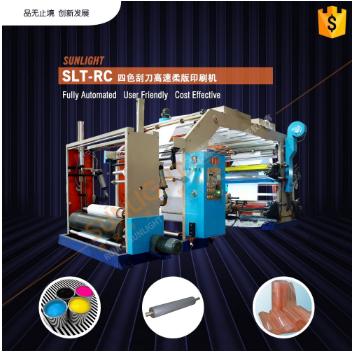 SLT-RC Высокоскоростная флексо печатная машина с четырехкрасочным ракелем