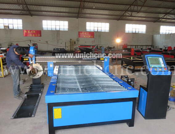 Blue color 1300*2500mm working area plasma cuttting machine with rotary