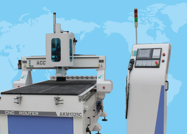 4*8 feet ATC cnc machine 1325 automatic wood carving machine for door marking