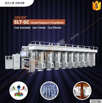 Four Color Aluminum Foil Auto Register Computerized Automatic Roto Gravure Intaglio Printing Machine