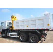 Sino howo 6x4 crane tipper truck dump truck with crane