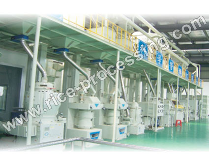 100T/D Automatic Rice Mill Production Line