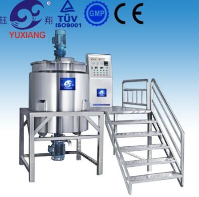 RHJ-B shampoo vacuum emulsifying mixer with homogenizer at bottom