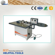 Double-side gluing edge banding machine, straight and curved edge banding machine,manual edge bander HB104