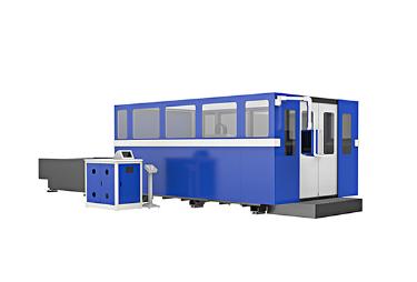 Машина лазерной резки оптического волокна по обмену рабочей площадки 500W