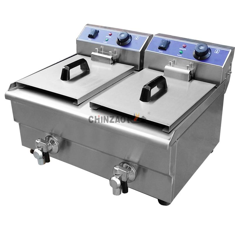 Fryer With Oil Tap 	DZL-34V