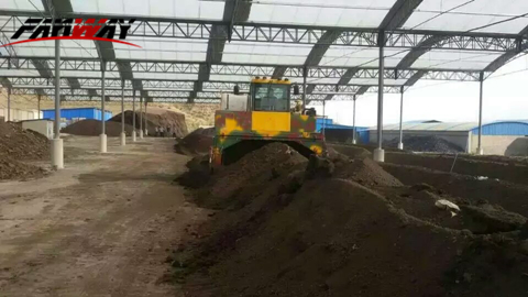 Animal Manure Composting Windrow Turner Machine