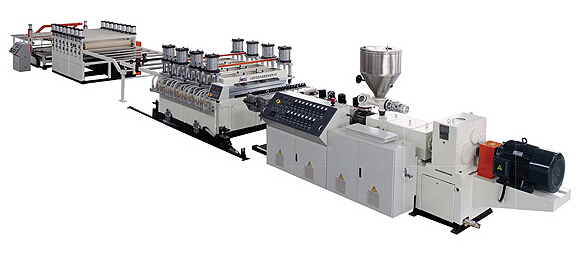 PVC Skinning (WPC) Foaming Board Extrusion Line