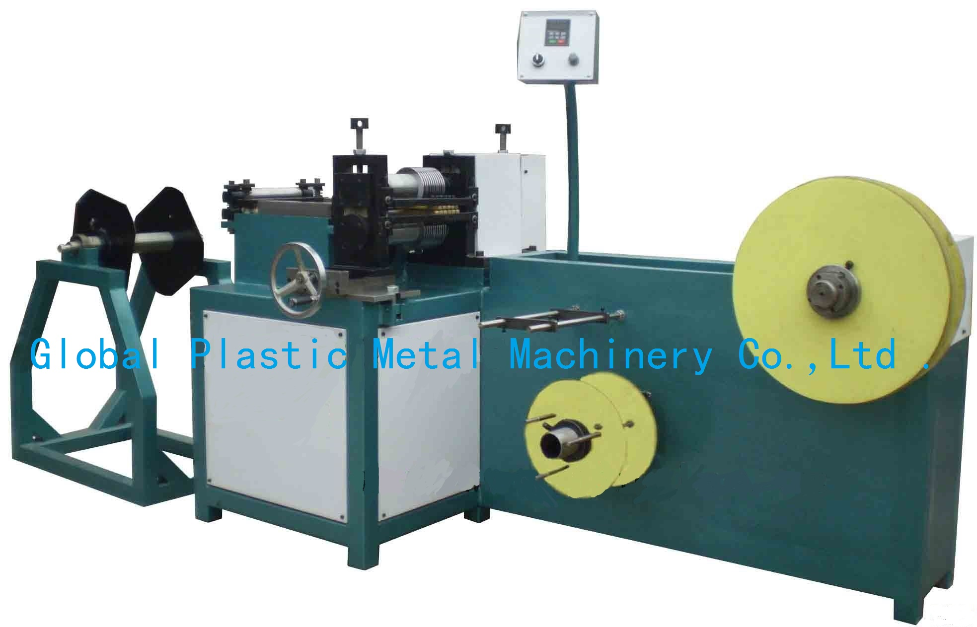 Metal sheet slitting machine