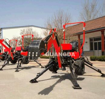 ATV mini backhoe excavator/ towable backhoe loader