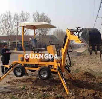 used towable backhoe used for farm tractor from China