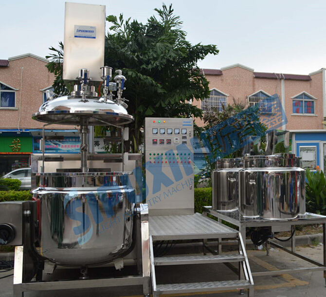 Hydraulic lifting cosmetic vacuum emulsify blender