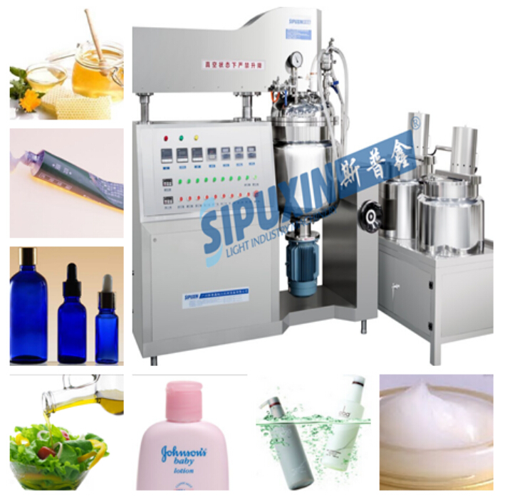 Vacuum cosmetic making machine cream mixing machine