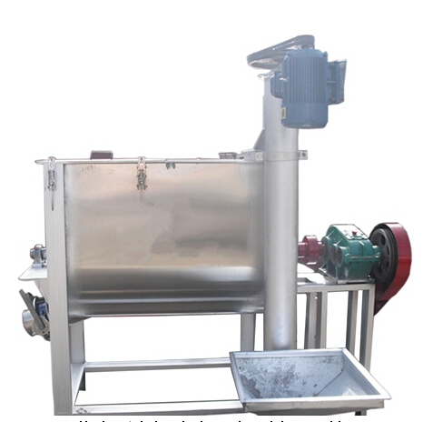 Horizontal chemical powder mixing machine