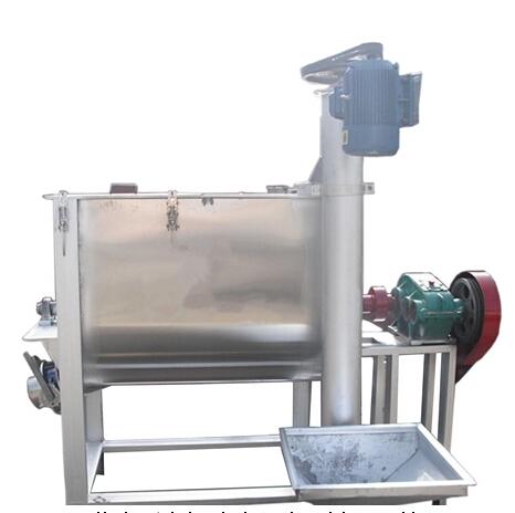 Horizontal chemical powder mixing machine