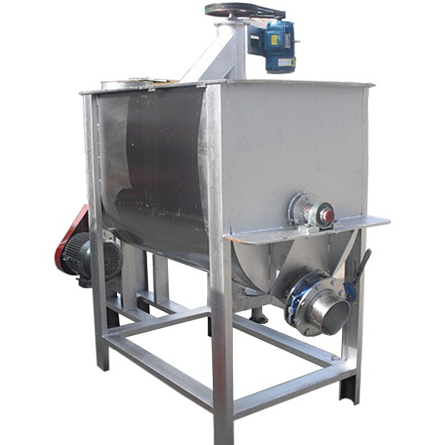 Horizontal dry powder mixing machine