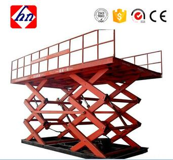 One Ton Load Capacity Stationary Scissor Lift platform