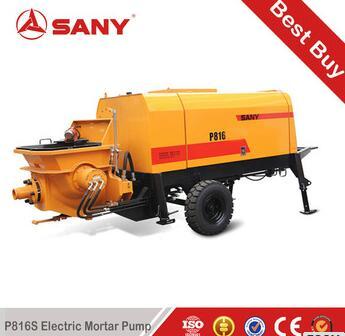 SANY P816s 8m3/h output diesel trailer mortar pump