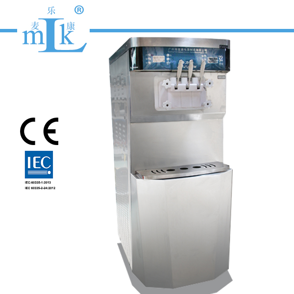 Miken Cooliceam 50L Double System Floor Stainless Steel Ice Cream Machine