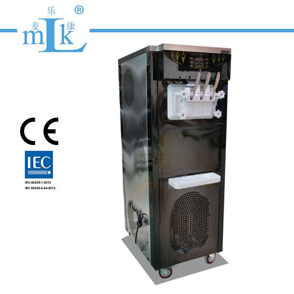 36Lfloor standing three flavor soft serve ice cream machine
